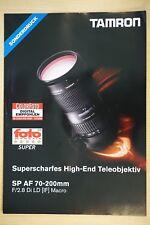 Obiettivo Tamron CF/fomag-test prospetto 2,8/70-200 di F. ca, ni, Sony, P, APS-C, VF, 4 pag.