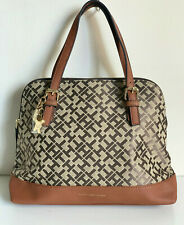 NEW! TOMMY HILFIGER BROWN SHOPPER SATCHEL HANDBAG BAG $88 SALE