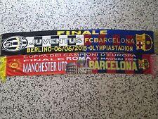 lotto 2 sciarpe BARCELONA FC final champions league football club scarf lot