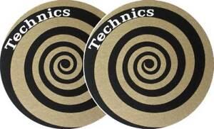 Technics Slipmats Spirale gold Doppelpack Slipmat für Plattenspieler NEU&OVP