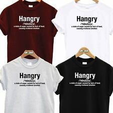 HANGRY DEFINITION GIFT T SHIRT TEE TOP PRESENT HUNGRY ANGRY NOVELTY FUNNY TSHIRT