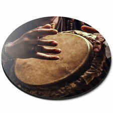 Round Mouse Mat - Djembe Drum Music Africa Fun Office Gift #2644