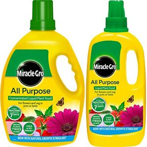 Miracle-Gro All Purpose Concentrated Liquid Plant Food, 1 & 2.5 Litre Size