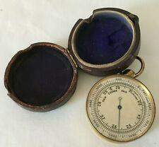 More details for vintage pocket barometer with case - spares & repairs