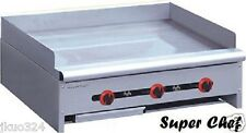 """New! Griddle Gas 36"""" Heavy Duty 90,000 BTU Stainless Steel LP or NAT GAS"""
