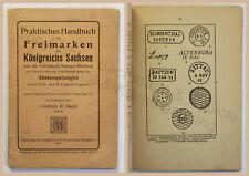 Praktisches Handbuch der Freimarken Königreich Sachsen & Abstempelungen 1921 xz