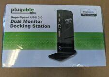 Plugable DisplayLink Dual Monitor Universal Docking Station - USB to HDMI, DVI