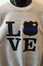 Police Wife T-shirt New Police Shield Love Police