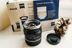 ZEISS BIOGON T*  35MM F2 Lens with maker's box for Leica M