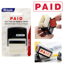 1 Pc Paid Pre Inked Rubber Stamp Business Office Store Work Self Inking Red Ink