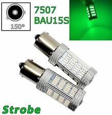 Strobe Green Rear Turn Signal Light BAU15S 7507 PY21W 92 LED Bulb Lamp A1 LAX