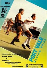 Port Vale v Walsall (Littlewoods Cup first round second leg) 1989-90