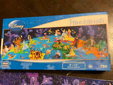 World Of Disney Panoramas 750 Piece Jigsaw Puzzle Complete