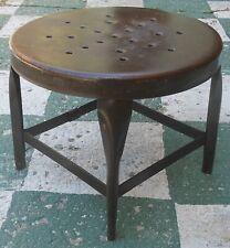 Great Vintage UHL Steel Toledo Low Stool, Great Original Old Surface