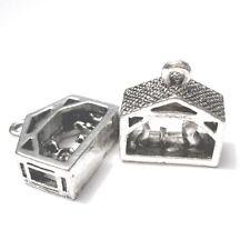 10 pieces 15x15mm Tibetan Silver Christmas House Alloy Charm Pendants - A2327