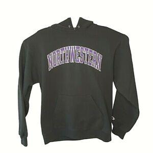 Northwestern Wildcats Champion Mens Fleece Hoodie Black Drawstring Pocket M