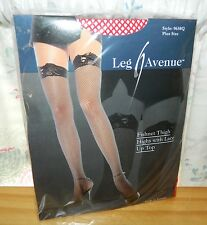 LEG AVENUE Red FishNet THIGH HGHS Lace Up Top NEW PLUS ONE SIZE