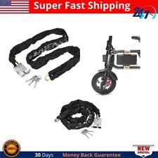 1.2M Heavy Duty Chain Lock Padlock Bicycle Scooter Metal Motorcycle Motorbike
