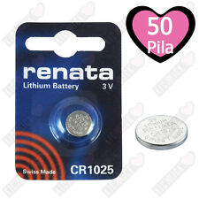 50 x Renata Batteria cr1025 LITIO 3v PILA A BOTTONE CR 1025 pila a bottone