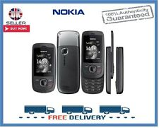 Brand New Nokia 2220 Black Graphite Slider Unlocked Mobile Phone 1 Year Warranty