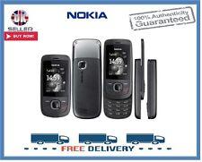 Brand New Nokia 2220 Black Graphite Slider Unlocked Mobile Phone 1 Year Warranty