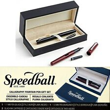 Fountain Pen Gift Set Calligraphy Lettering 2 Pens 2 Ink Cartridges Speedball