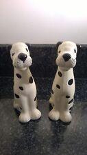 Vintage Ceramic Studio Pottery Pair Dalmatian Dogs Figures Hand Painted