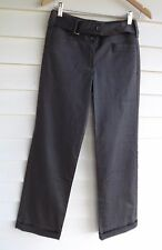 Jacqui E Women's Grey Pants with Fabric Belt - Size 6