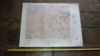1960s OLD LARGE AUSTRALIAN SURVEY WALL MAP OF TALLANGATTA REGION NEW SOUTH WALES