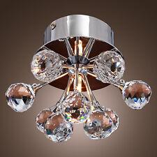 Modern Floral Shape Crystal Ceiling Light Fixture Flush Mount Light Chandelier