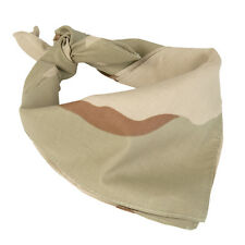 Army 3-Colour DESERT CAMO BANDANA - 100% Cotton Camouflage Military Neckerchief