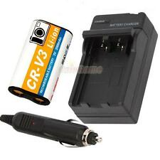 NEW CR-V3 CRV3 Rechargeable Battery + Charger for KODAK