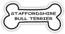Staffordshire Bull Terrier Hueso pegatina Raza Perro tazón Cachorro Mascota Etiqueta del vinilo