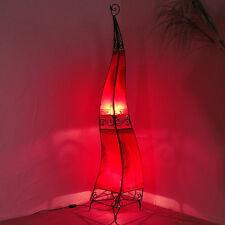 Orientalische Hennalampe Orient Lampe Henna Lederlampe Stehleuchten 160cm ROT