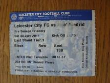 30/07/2011 BIGLIETTO: Leicester City V REAL MADRID Friendly [] (marchio sulla parte anteriore). l'oggetto