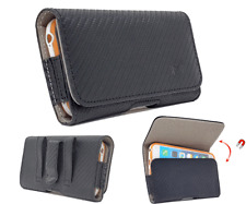 Carbon PU Leather Pouch Holster Belt Loop Case For iPhone SE(2020),iPhone 8,7,6S