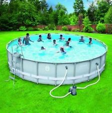 Coleman 22-x52 Power Steel Frame Above-Ground Swimming Pool Set Outdoor Backyard