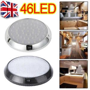 UK 46LED Ceiling Cabin Lights 12V Caravan Campervan van Trailer Interior Lamp
