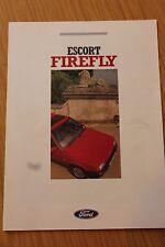 Ford Escort Firefly Colour Sales Folder 1988 FA 865