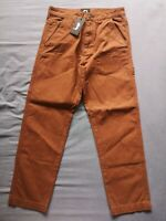 """Stussy Men's Brown Chore Work Pant Trousers Size 29"""" New With Tags"""
