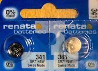 2-341 Renata SR714SW V341 D341 E341 2 Batteries Authorized seller. Exp 08/21