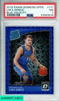 2018 PANINI DONRUSS OPTIC Luka Doncic #177 BLUE VELOCITY ROOKIE RC PSA 7 NM