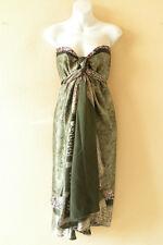 "E721 Vintage Silk Magic 36"" Women Pareo Wrap Skirt Tube Maxi Dress + Bonus DVD"