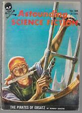 ASTOUNDING SCIENCE FICTION MAGAZINE FEBRUARY - APRIL 1959 LEINSTER  KELLY FREAS