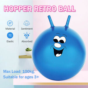 Large Space Hopper Retro Ball Exercise Indoor Outdoor Bounce Jump Toy Kids Adult