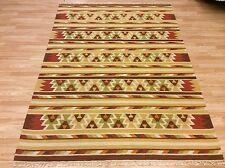 Caucasian Tribal Handwoven WOOL Kilim Beige Rust Rug XXXL Large 315x475cm 50%OFF