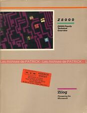 ZILOG Data Book Z8000 Familly / Fascicule Technique Microprocesseur Z 8000 1982