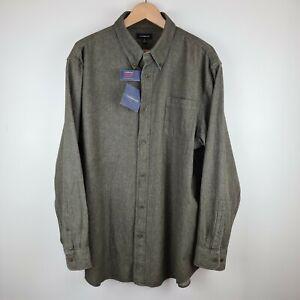 NWT Croft /& Barrow Solid Button-Down Rosin Green Shirt Men/'s Big /& Tall LT XLT