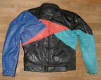 Wow Men's Motorcycle - Combination Leather Jacket/Biker Jacket IN Colorful Size
