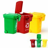 Kids Fun Little Push Toy - Realistic Garbage Truck Trash Cans / Bins (3ct)